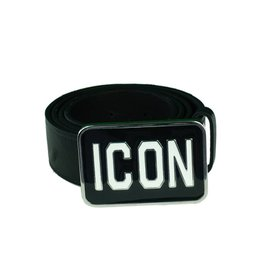 DSQUARED2 Icon Buckle Belt Riem Zwart