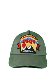 DSQUARED2 DSQ2 Free Climbing Mountains Baseball Cap Groen