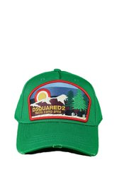DSQUARED2 Twins Camp Area Baseball Cap Groen