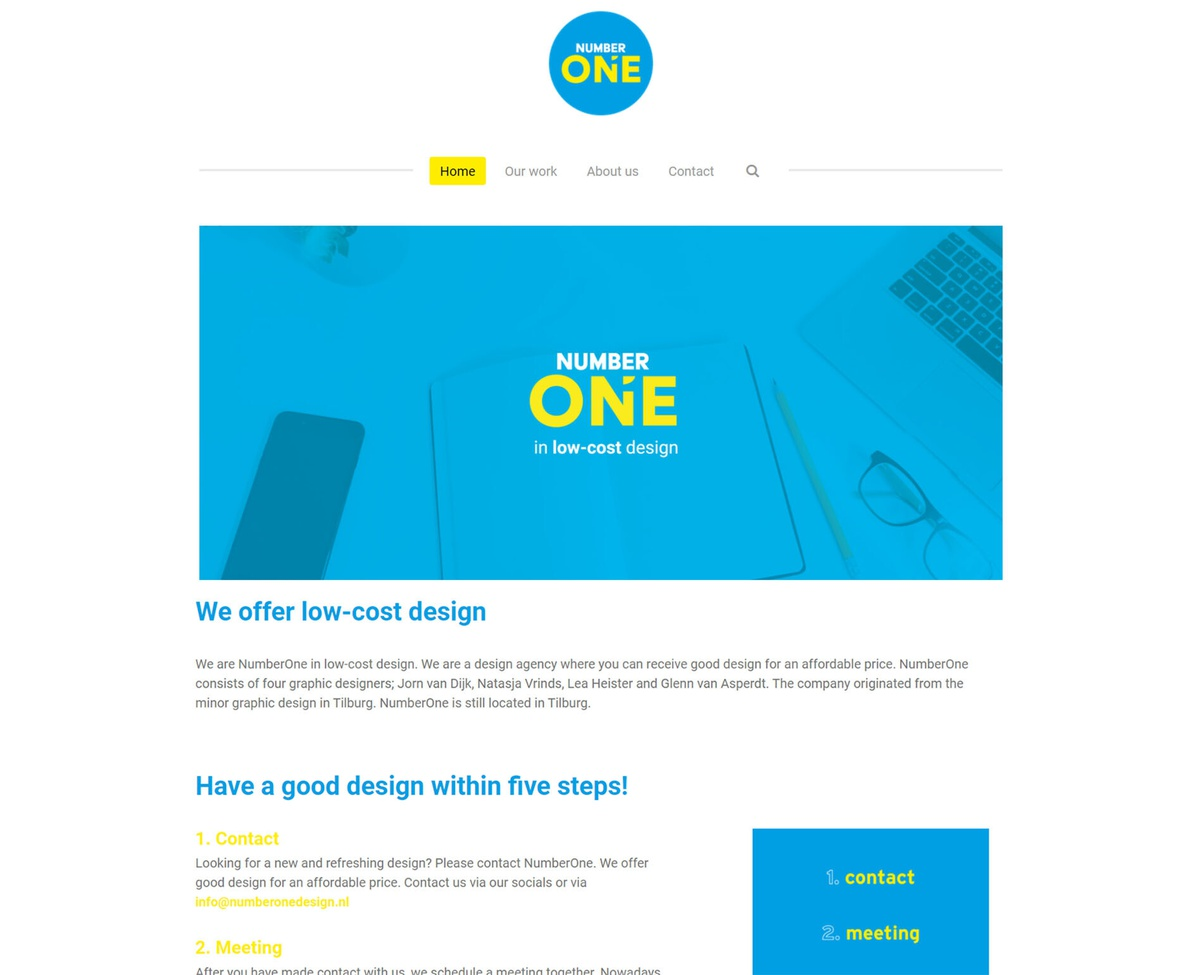 Website NumberOnedesign