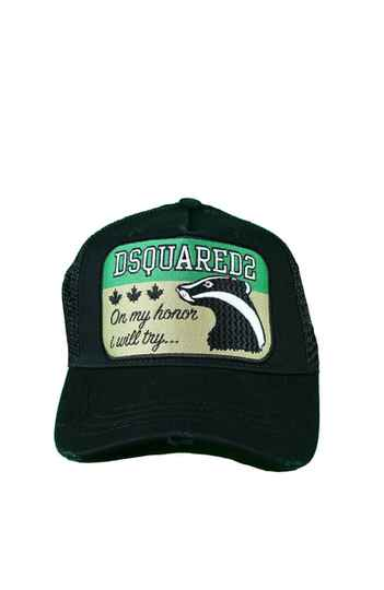 1a1bc0937ba DSQUARED2 On My Honor I Will try Baseball Cap Zwart