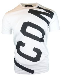 DSQUARED2 Icon T-shirt lopsided Wit