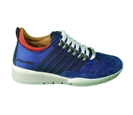 DSQUARED2 Wedge Stripes Tech Sneakers Blauw
