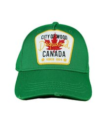 DSQUARED2 Baseball Cap City of Wood Canada Groen
