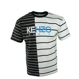Kenzo Striped T-Shirt Zwart Wit