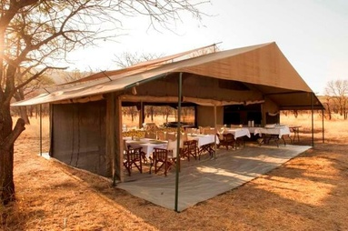 Tented camp used during a fly drive safari in Tanzania