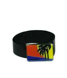 DSQUARED2 Scenic Buckle Belt Riem Zwart