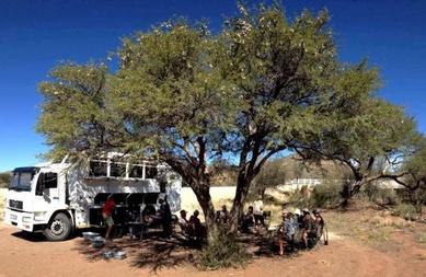 Example of an overland truck we use on our Group tours in Africa
