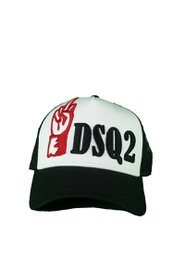 DSQUARED2 n The Name Of Twins Baseball Cap Wit/Zwart