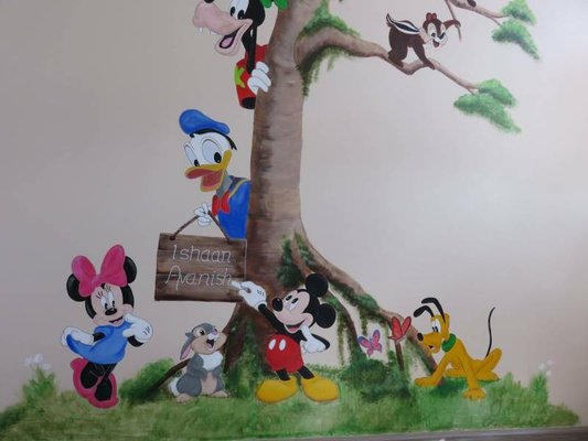 Disney figuren in boom