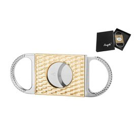 ANGELO CIGAR CUTTER METAL LINES GOLD