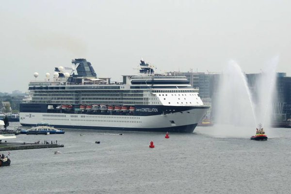 the very last departure of Celebrity Constellation