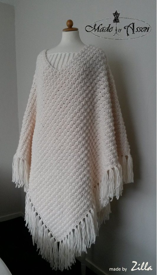 Zillas Warme Winter Poncho Ponchos Haken Made In Assen