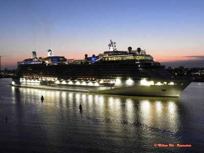 Goodmorning  Celebrity Eclipse, welcome again to Amsterdam, 13.07.2018 - 4.30