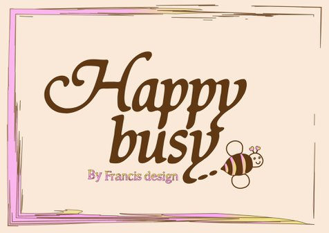 Happy busy