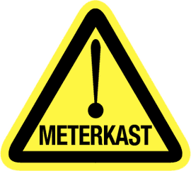Deursticker meterkast (90x90mm)