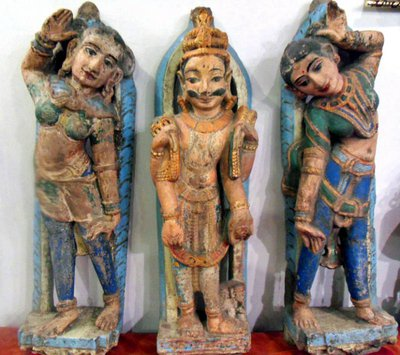 Antique temple statues