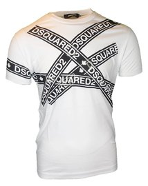DSQUARED2 logo strip T-shirt Wit