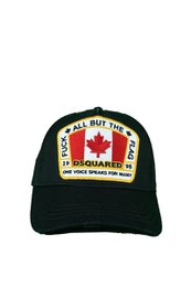 DSQUARED2 F*ck All But The Flag Baseball Cap Zwart