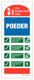 Pictogram Poederblusser