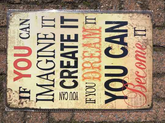 vintage replica reclamebord if you can