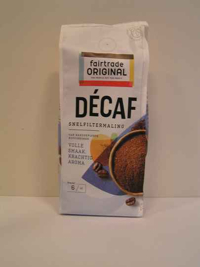 Fairtrade Koffie Decaf snf, MH, 250g