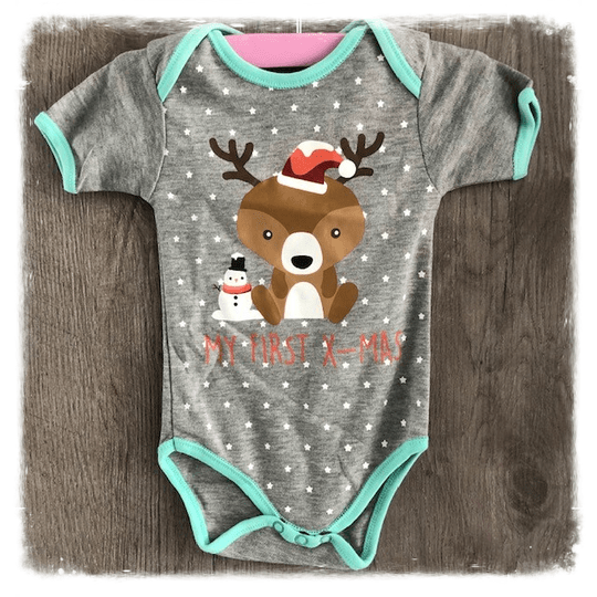 Rompertje 'My first X-mas'