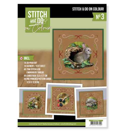 STDOOC10003 - Stitch and Do on Colour 003 - Amy Design - Forest Animals