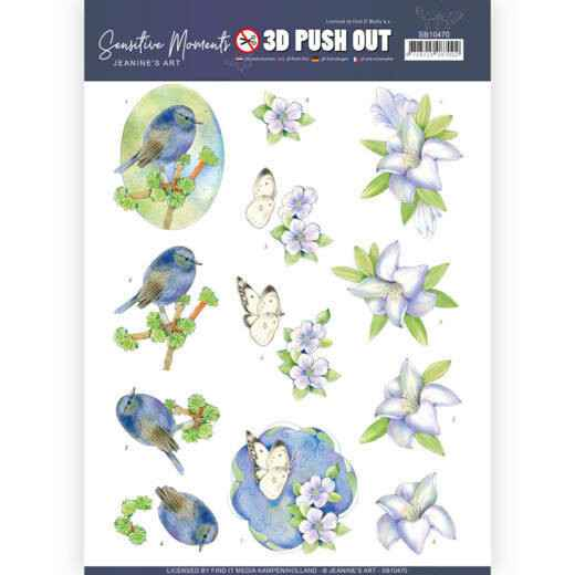 SB10470 - 3D Push Out - Jeanine's Art - Sensitive Moments - Lily