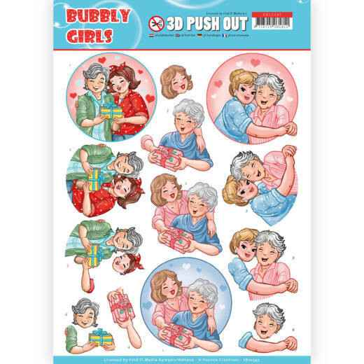 SB10345 - 3D Pushout - Yvonne Creations- Bubbly Girls - Mothersday