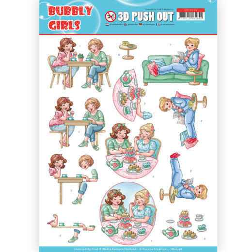 SB10348 - 3D Pushout - Yvonne Creations- Bubbly Girls - Me Time