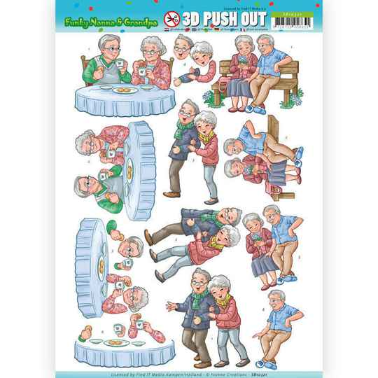 SB10321 - 3D Pushout - Yvonne Creations - Funky Nanna's - Happy Together