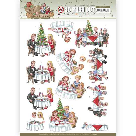 SB10595 - 3D Push Out - Yvonne Creations - The Heart of Christmas - Dining