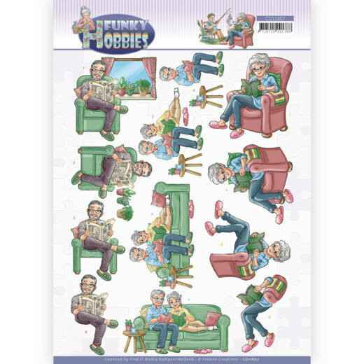 CD11607 - 3D cutting sheet - Yvonne Creations - Funky Hobbies - Reading