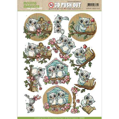SB10163 - 3D Pushout - Yvonne Creations - Moving Madness - Owls