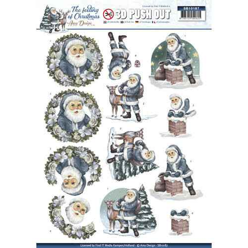SB10187 - 3D Pushout - Amy Design - The feeling of christmas - Santa clause