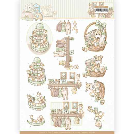 CD11627 - 3D cutting sheet - Yvonne Creations - Newborn - Baby Basket