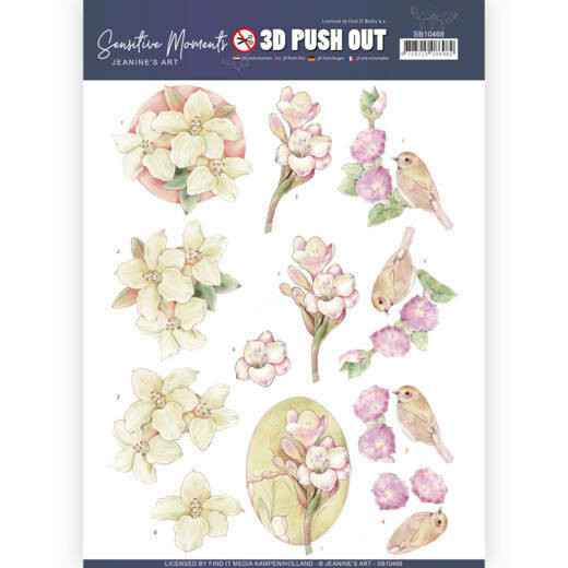 SB10468 - 3D Push Out - Jeanine's Art - Sensitive Moments - Freesias