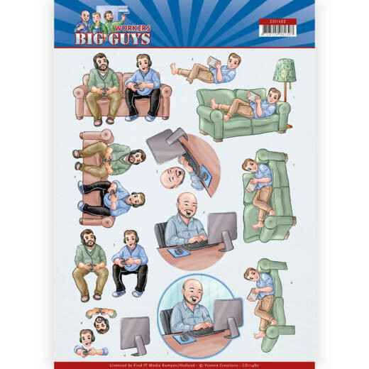 CD11480 - 3D Cutting sheet - Yvonne Creations - Big Guys - Workers - Gaming