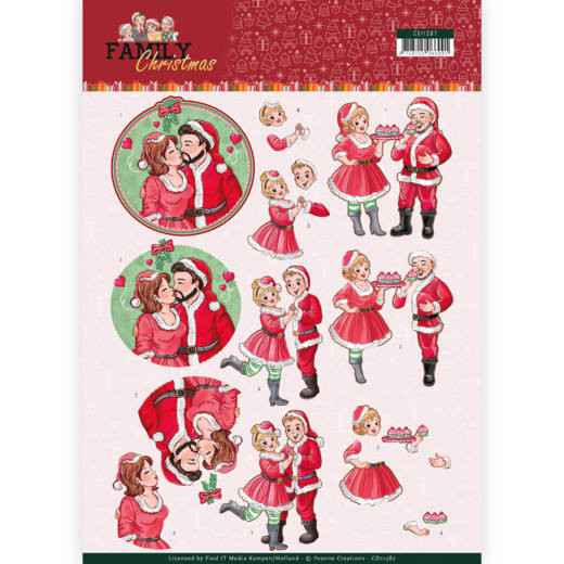 CD11387 - 3D Knipvel - Yvonne Creations- Loving Christmas