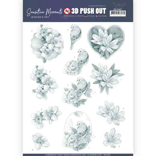 SB10467 - 3D Push Out - Jeanine's Art - Sensitive Moments - Grey Rose