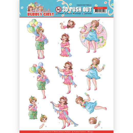 SB10441 - 3D Pushout - Yvonne Creations - Bubbly Girls - Party - Party Time