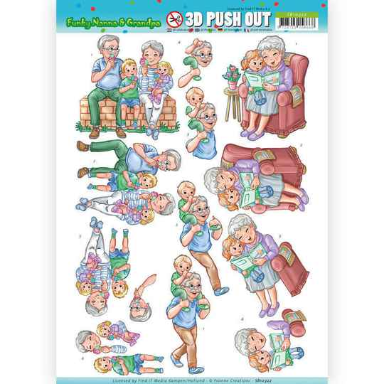 SB10322 - 3D Pushout - Yvonne Creations - Funky Nanna's - With the Grandchilds