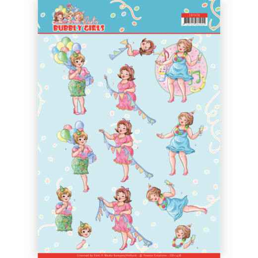 CD11478 - 3D cutting sheet - Yvonne Creations - Bubbly Girls - Party - Party Time