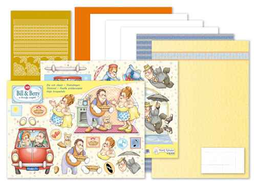 9.0094 - MRJ set Bill & Betty A5 Set for 3 complete cards