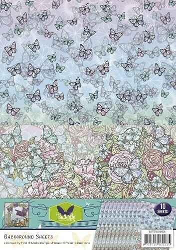 SETBGS10006 - Background sheets - Yvonne Creations - Butterfly Collection