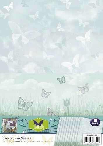 SETBGS10004 - Background sheets - Yvonne Creations - Butterfly Collection