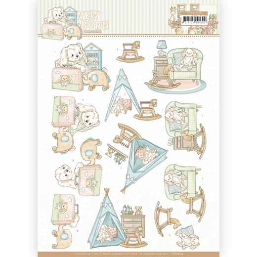 CD11629 - 3D cutting sheet - Yvonne Creations - Newborn - Baby Rocking Horse