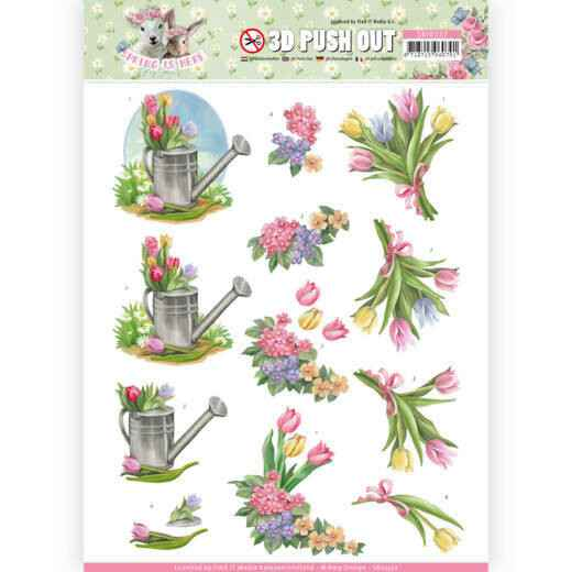 SB10332 - 3D Pushout - Amy Design - Spring is Here - Tulips