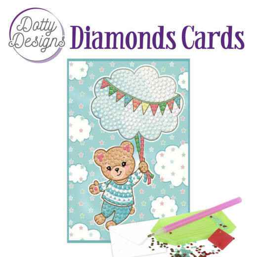 DDDC1011 - Dotty Designs Diamonds Cards - Blue Baby Bear 10x15